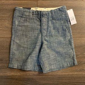 NWT Baby Gap Chambray Toddler Boy Shorts